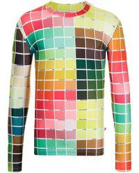 Walter Van Beirendonck Color Block-print Long-sleeved T-shirt - Green