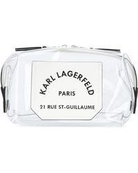 Karl Lagerfeld Trousse de toilette K/Journey à design transparent - Blanc