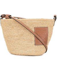 Loewe Raffia Weave Tote Bag - Natural