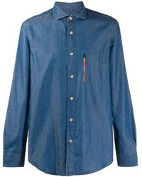 Paul Smith Camisa vaquera Artiste Stripe - Azul