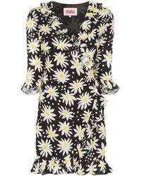 Solid & Striped Mini-jurk Met Print - Zwart