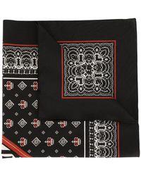 Dolce & Gabbana Schal mit Logo - Schwarz