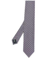Ermenegildo Zegna Krawatte mit abstraktem Muster - Schwarz