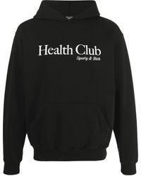 Sporty & Rich Health Club パーカー - ブラック