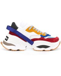 DSquared² Sneakers Met Chunky Zool - Wit