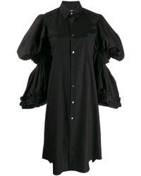 Comme des Garçons ティアードスリーブ シャツドレス - ブラック