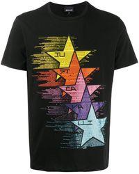 Just Cavalli - ラインストーンロゴ Tシャツ - Lyst