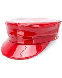 Manokhi - Vernished Styled Cap - Lyst