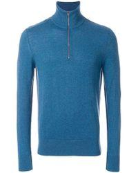 Burberry ジップアップ セーター - ブルー