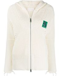 Zadig & Voltaire Ribbed Zip-up Hoodie - Multicolour