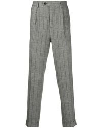 Brunello Cucinelli Pinstriped Cropped Tailored Trousers - Grey