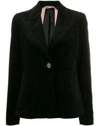 N°21 Corduroy Style Blazer Jacket - Black