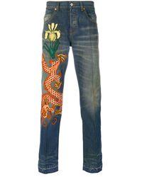 Gucci Stonewashed Denim Jeans - Blue