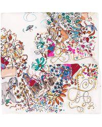 Ferragamo Платок С Цветочным Принтом - Многоцветный