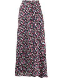 Essentiel Antwerp Floral print maxi skirt - Schwarz