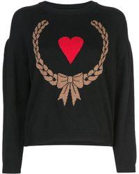 Boutique Moschino ハートモチーフ セーター - ブラック