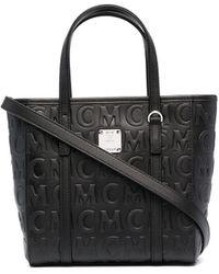MCM Сумка-тоут С Тисненым Логотипом - Черный