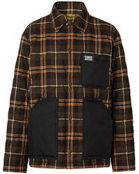 Burberry キルティング チェック シャツジャケット - グリーン