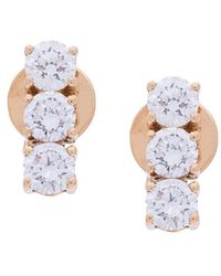 Anita Ko - Triple Stud Earrings - Lyst