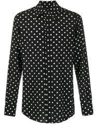 Dolce & Gabbana Gepunktetes Hemd - Schwarz