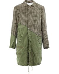 Greg Lauren - London Houndstooth Fishtail Parka Coat - Lyst