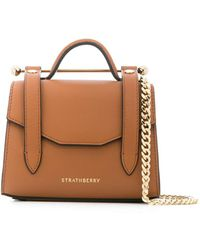 Strathberry Mini sac à main Allegro Micro - Marron