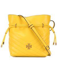 Tory Burch Kira Chevron-quilted Bucket Bag - Yellow