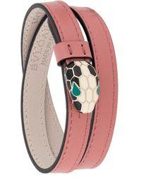 BVLGARI Bracelet double-tour à détail de serpent - Rose