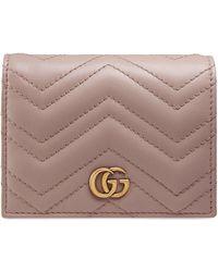 Gucci GG Marmont Pasjeshouder - Roze
