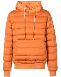 Mostly Heard Rarely Seen Ribbed-edge Padded Hoodie - Yellow