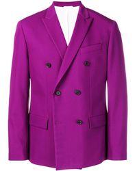 Calvin Klein Двубортный Блейзер - Пурпурный