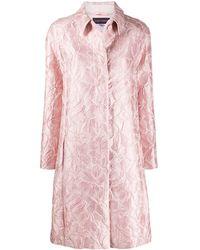 Talbot Runhof Jacquard Coat - Pink