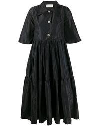 Loulou Aラインドレス - ブラック