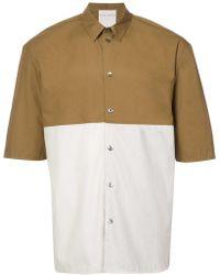 Stephan Schneider Colour Blocked Shirt - Green