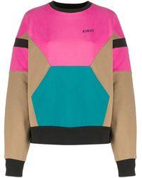 Kirin Sweat colour block à logo - Rose