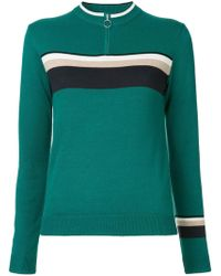 Guild Prime - Zipped Contrast Stripe Jumper - Lyst