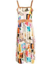 Marni Vestito midi con stampa - Multicolore