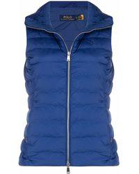 Polo Ralph Lauren Gilet à logo brodé - Bleu