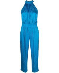 Pinko オフショルダージャンプスーツ - ブルー