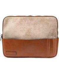 Brunello Cucinelli Two-tone Laptop Case - Brown