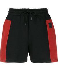 McQ Colour-block Drawstring Shorts - Black