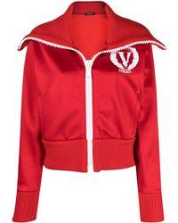 Versace Спортивная Куртка С Подворотом - Красный