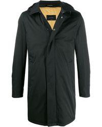 Dell'Oglio Marvin フーデッドコート - ブラック