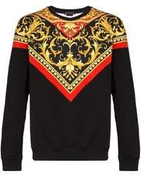 Versace Baroque Print Sweatshirt - Red