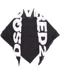 DSquared² Pañuelo con logo en contraste - Negro
