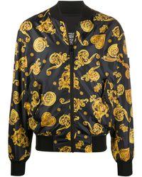 Versace Jeans Bomberjacke mit Barock-Print - Schwarz