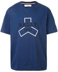 Bally ロゴ Tシャツ - ブルー