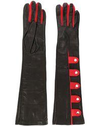 Manokhi Handschuhe mit Knöpfen - Schwarz