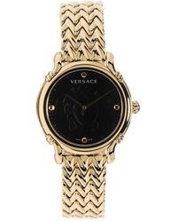 Versace Аналоговые Наручные Часы 34 Мм - Металлик