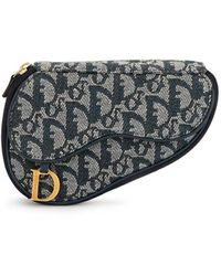 Dior Pouch Trotter Saddle Pre-owned - Blu